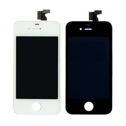 Wholesale Iphone4 Parts - Best Quality AAA for iphone4 4S LCD Display Digitizer+Touch Screen Replacement Parts 4G With frame LCD