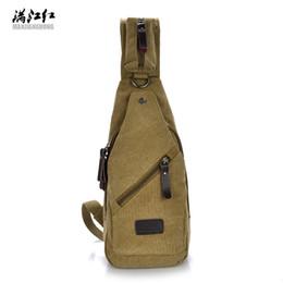Wholesale Travel Back Bags For Men - 2017 Unisex Chest Bags Canvas Man Messenger Bag Casual Travel Messenger Shoulder Back Pack for Women Fashion