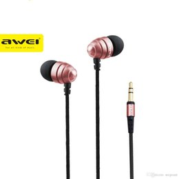 Wholesale Q2 Phone - AWEI ES Q2 Noise Isolation Super Deep In-ear Earphone 3.5mm Jack Headset for Phone MP3 MP4 Players