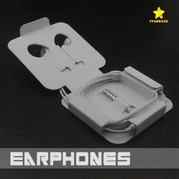 Wholesale Earphones Oem - OEM High Quality 3.5mm Earphone Headphone Earbuds iPhone 6 6S Headset 3.5mm In-ear Stereo with Mic for iphone Samsung Retail Package