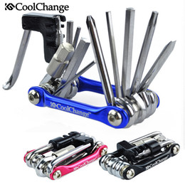 Wholesale 11in1 Bicycle Tools - Coolchange 11in1 Multi-function Bike Bicycle Chain Rivet Extractor Cycling Multi-functional combination tool Repair Tools Kit 100% Brand New
