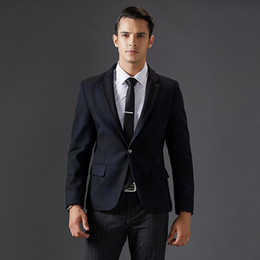 Wholesale Korean Winter Fashion For Male - Wholesale- Woolen Blazer for Men Korean Fashion Clothing casual suit Jackets slim fit unique blaser masculino designs Male winter coat