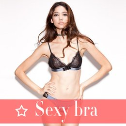 Wholesale Bikini 34b - Lingerie shop French sexy bikini lashes without a steel triangle cup bra suit Temperament and interest The temptation to girl trend ultra-th