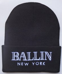 Wholesale Wholesale Church Hats New York - New Pom Pom Beanies New York Beanies Fashion Hiphop Caps Mens Sports Beanies Cheap Women Knitted Hats Brand Winter Wool Beanie Hats