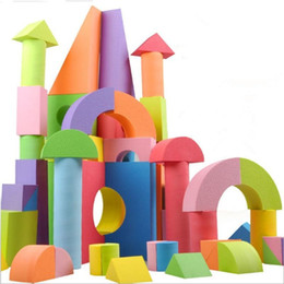 Wholesale Soft Building Blocks - Soft Foam Building Blocks Construction Imaginationtoys Educational Playing For Kids Children Toddlers Non-Toxic Set Of 50Pcs