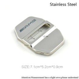 Wholesale Mercedes Benz Car Accessories - Car-styling Stainless Steel Car JDM Door Lock Cover For MERCEDES BENZ W211 AMG W204 W210 W203 Cla Gla Accessories Car Styling