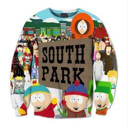 Wholesale Custom Printed Fleece - Wholesale-Fashion South Park 3D Sublimation print fleece Sweatshirt Crewneck Plus Size Custom made clothing