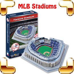 Wholesale Paper Puzzle Games - Christmas Gift M L B Stadiums Series 3D Puzzles Model Baseball Pitch Assemble Paper Toy DIY Collection Fans Favour Present Family Game
