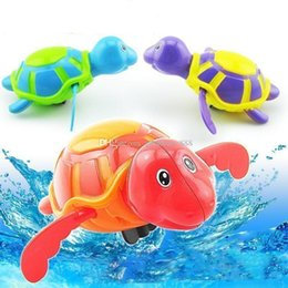 Wholesale Baby Tortoise - New baby Bath Toys Clockwork kids Bath tortoise cartoon Swimming turtle toys wind up water C2334