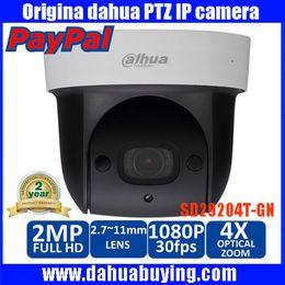 Wholesale Mini Ptz Ir - Original english dahua SD29204S-GN 1080p 2mp IR 30M nightvision Micro SD memory 4x network ptz mini dome camera DH-SD29204S-GN