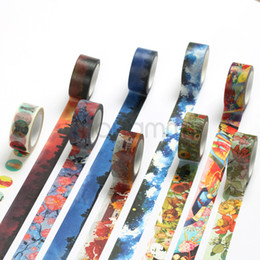 Wholesale Japanese Style Washi Masking Tape - Wholesale- 2016 New 15 style Japanese Scrapbooking Paper Decorative Masking Washi Tape DIY Diary Scrapbook Lable School Office Supply Stat
