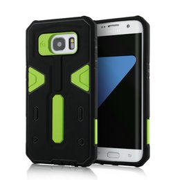 Wholesale S4 Hard Cover - Heavy Duty Shockproof Cases for Samsung Galaxy S7 edge S7 S6 edge Plus S5 S4 Note 5 4 3 Tough Rugged Hybrid Hard Dual Layer Case Cover Shell