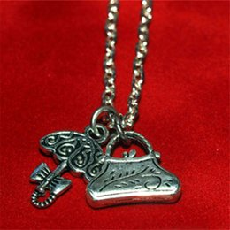 Wholesale Pewter Necklace Pendants - 20pcs MARY POPPINS Pewter Charms Umbrella and Carpet Bag Necklace in silver