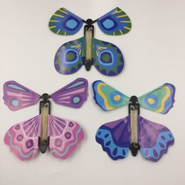 Wholesale Birds Tricks - Wholesale- New Magic Flying Fly Butterfly Easy To Do Magic Tricks Props Toys For Children Student Surprising Birthday Holiday Gift