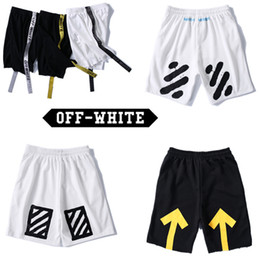 Wholesale Browning Sweat Pants - Off White Shorts Men Summer Style Pants Off White Abloh Virgil Tracksuit Fitness Skinny Joggers Sweat Off White Shorts