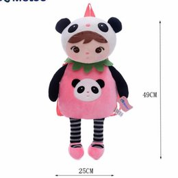Wholesale Metoo Bag School - Cartoon School Bags Kids Doll Plush Toy Satchel Children Shoulder Bag for Kindergarten Angela Rabbit Girl Backpack Metoo Doll
