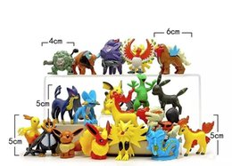 Wholesale Pokemon Charizard Figure - Poke game 100 Styles Poke Figures Toys Pikachu Charizard Eevee Bulbasaur Suicune PVC Mini Model Toys For Children