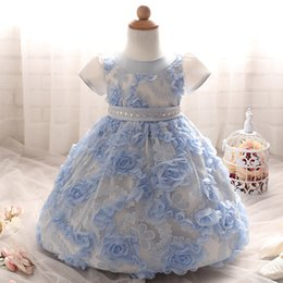 Wholesale Green Babies Organic Clothing - hot sale baby girl party dress children frocks designs baby party clothing baby birthday party wear