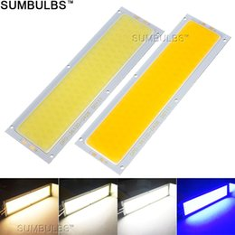 Wholesale Matrix Dc - Wholesale- 120x36MM 10W COB LED Strip Light Bulb Lamp DC 12V 1000LM Blue Warm Natural Cold White COB Matrix for DIY Car Work Lights