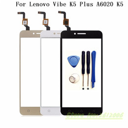 lenovo k5 Coupons - Wholesale- 5.0 inch Touch Screen Digitizer For Lenovo Vibe K5 Plus A6020 Vibe K5 Front Glass Sensor Touch Screen Panel Replacement+tools