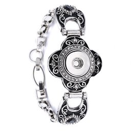 Wholesale Wholesale Diy Flowers - 10Pcs mixed styles interchangeable 18mm women's vintage DIY snap charm button cuff bracelets noosa style Jewelry