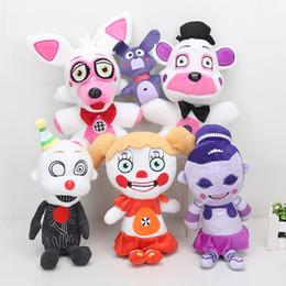 оптовые цирковые игрушки Скидка Оптовая Новый 25 см пять ночей в Фредди игрушка сестра расположение Funtime Фредди Фокси Баллора Эннард цирк детские FNAF плюшевые игрушки куклы