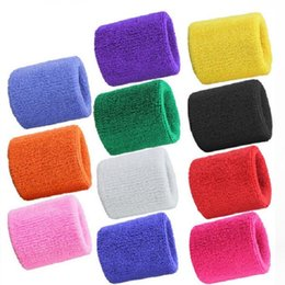 Wholesale Wrist Support For Basketball - Wholesale Terry Cloth Wristbands Sport Sweatband Hand Wrist Support Brace Wraps Guards For Gym Volleyball Basketball Free Shipping