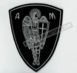 Nouvelle Arrivée Christian Ange Guerrier Bouclier De Fer Brodé Sur Patch Christian Religieux Emblème 4
