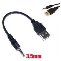 3,5 мм AUX Аудио на USB 2.0 Мужской кабель для синхронизации данных Кабель-адаптер Адаптер для Ipod Shuffle 2-го поколения MP3 MP4 Телефон Аудио кабельная линия cheap mp3 data cable от Поставщики mp3 кабель для передачи данных
