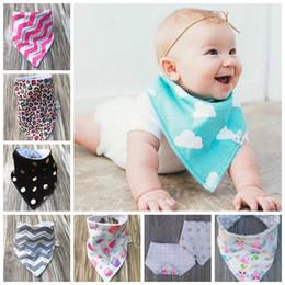 Wholesale water check - 20pcs Baby Triangle Bib burp cloths soft 100% Cotton minky dots water absorption Bandana Bibs Infant Saliva Bavoir Towel Pinafore Apron YE08