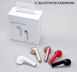 Wholesale I Phone Earphones - High quality 2017 HBQ I7 Mini Stereo Bluetooth Earbud Single Wireless Invisible Headphones Headset With Mic bluetooth Earphone for I-phone