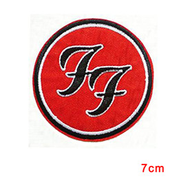 Wholesale Metal Clothes - FOO FIGHTERS Grohl Rock Metal Music Embroidered Patch Badge Iron Sew On Clothing