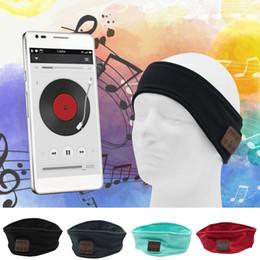 Canada Mise à niveau stéréo stéréo Bluetooth musique bande anti-transpirante avec masque yeux dormant mains libres Mic musique musique casque yoga bonnet cheveux MP3 bandeau chapeau cheap eye hats Offre