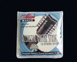 Wholesale Guitars 12 String Acoustic - Alice A2012 12 Strings Acoustic Guitar Strings 010-026 Musical Instrument Guitar Parts Accessories 12 Guitarrra Strings