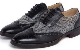 Wholesale Vintage Lace Cut Out Oxfords - oxford vintage shoes men wingtip black lace up british style fashion mens casual shoes for men business