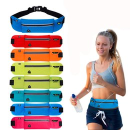 Wholesale Baseball Travel - Fashion Outdoor Men Women Waist Pack phone Bag Unisex Sport Running Nylon Waistband for accessory men Small Travel Belt Bag free shipping