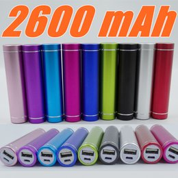 Wholesale Wholesale Portable Backup Battery Charger - Fashionable aluminum Lipstick 2600 mAh Power Bank Portable Backup External Battery USB Mobile charger Mobile Power Supply A-YD
