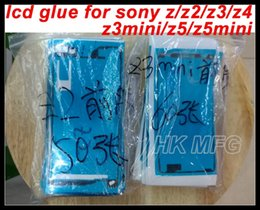Wholesale double sided glue - LCD Screen sticker Adhesive for Sony Z Z2 Z3 Z3mini z3c Z4 z3+ Z5 Z5mini z5c Double Sided LCD Glue Tape