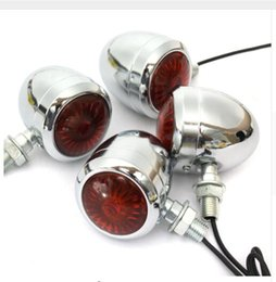 Wholesale Indicator Light Bulbs - 4PCS Metal Motorcycle LED Turn Signal Indicator Light Lamp Bulb For Harley  Cafe  Racer 10W Turn Signal Light