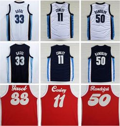 Wholesale White Navy Uniforms - 2017 Newest 33 Marc Gasol Jersey 1970 Sounds Red Navy Blue White Throwback 50 Zach Randolph Shirt Uniform 11 Mike Conley Basketball Jersey