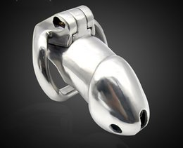 Wholesale Sex Cock Long - Latest Design Stainless Steel Male Chastity Device Adult Long Cock Cage Curve Cock Ring BDSM Sex Toys Chastity Belt Prevent Masturbation