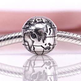 Wholesale European Clip 925 - European Style Jewelry 925 Sterling Silve Bead Globe Clasp&Clips Charms Fit DIY Bracelet 791182