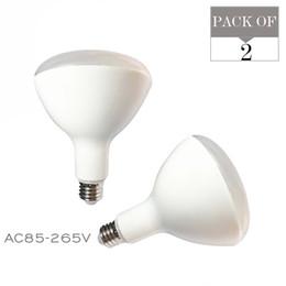 Wholesale E27 Led Flood Lamps - 2-PACK BR40 LED Flood Light Bulb 85-265V 15W E27 High power lamp LED Lighting 2700K 3000K 5000K Soft warm natural