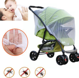 2017 poussette bébé insecte Poussette poussette Pram Mosquito nsect Net Mesh Buggy Housse pour bébé Infant Mosquito Insect Shield Net Protection Mesh Buggy Cover KKA2151 poussette bébé insecte sur la vente