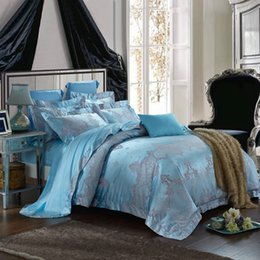Wholesale High Thread Count Sheets - higher thread count jacquared bed sheet bedding four pieces per set,luxaury designs,queen and king size avaiblle waersaisi