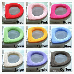 Wholesale Piece Pan - Warmer Soft Toilet Seat Cover for Bathroom Products Pedestal Pan Cushion Pads Lycra Use In O-shaped Flush Comfortable Toilet Random