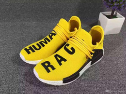 Wholesale White Cotton Table Runner - 2017 Cheap Online Wholesale NMD Pharrell Human Race NMD Runner White Black Grey Red Running Shoes Send With Box