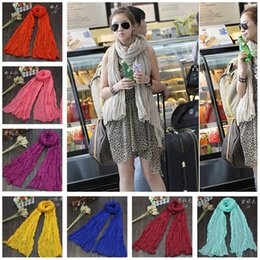 Wholesale Cheap Solid Color Scarves - Scarf Cheap Chiffon Scarves Ladies Scarfs for Women Pink White Purple Solid Color Summer Beach Shawl Fashion