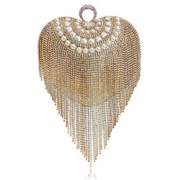 Bolsa dedo anelar on-line-Tassel strass mulheres sacos de noite frisado bolsas de casamento anéis de dedo diamantes pequena bolsa saco de noite