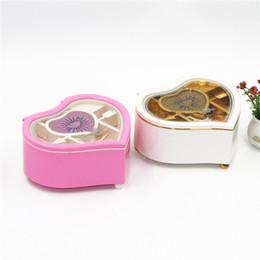 Wholesale Children Bag China - Heart-shaped jewelry music box rotating dancing princess girl music box creative children girl happy birthday gift